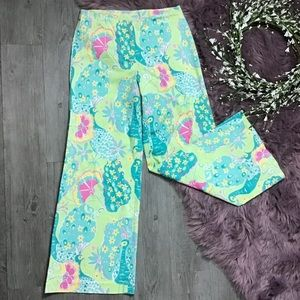 Lilly Pulitzer wide leg peacock pants 8